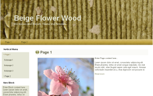 Beige Flower Theme