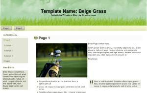 Beige Grass Outdoor Theme