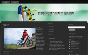 Black Green Outdoor Theme