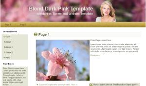 Blond Dark Pink Theme