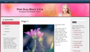 Blond Pink Gray Black Theme
