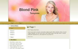 Blond Pink Theme