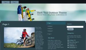 Dark Teal Outdoor Theme