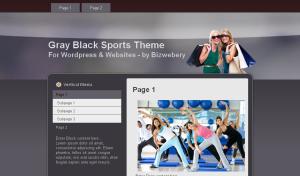 Gray Black Sports Theme