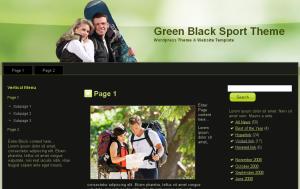 Green Black Sport Theme