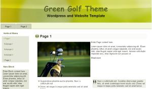 Green Golf Theme