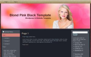 Blond Pink Black Theme