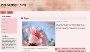 Pink Contrast Theme