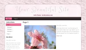 Pink Gray Sofia Theme